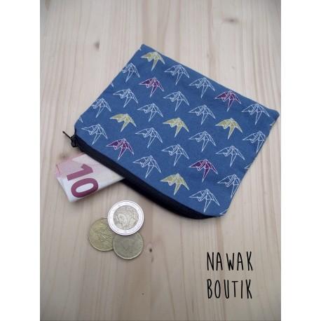 Porte Monnaie - Grues origami