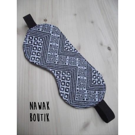 Masque de sommeil - Géométrique aztèque