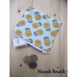 Porte Monnaie ananas