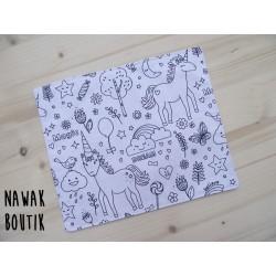Feuille à colorier - Licornes et lamas