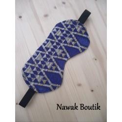 Masque de sommeil jacquard bleu