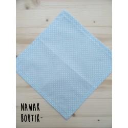 Mouchoir en tissu - Pois bleus